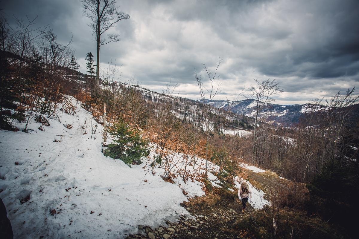 Szczyrk Skrzyczne spacer zielonym szlakiem fotografie-14