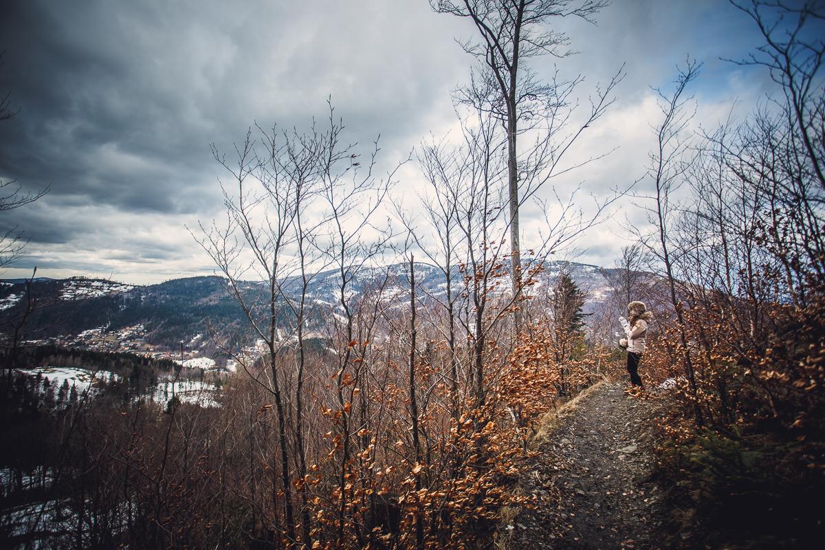 Szczyrk Skrzyczne spacer zielonym szlakiem fotografie-15