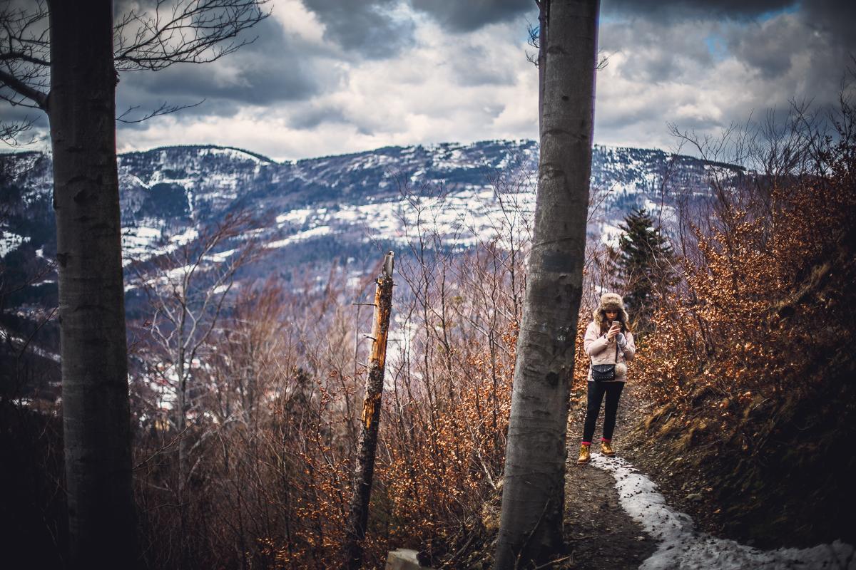 Szczyrk Skrzyczne spacer zielonym szlakiem fotografie-16