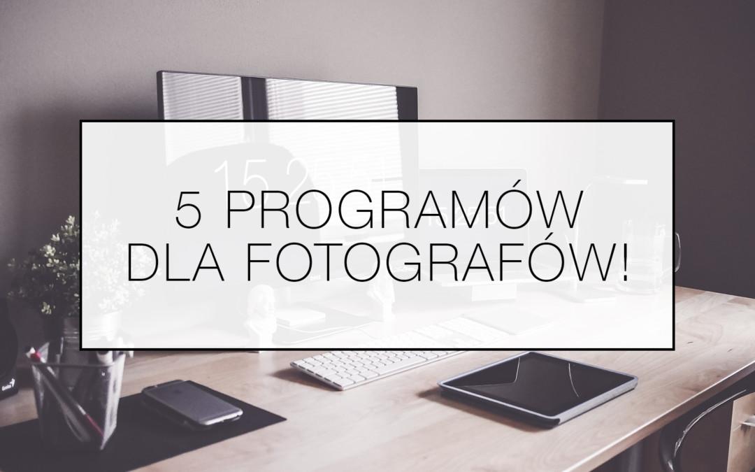 Przydatne programy dla fotografów i nie tylko!