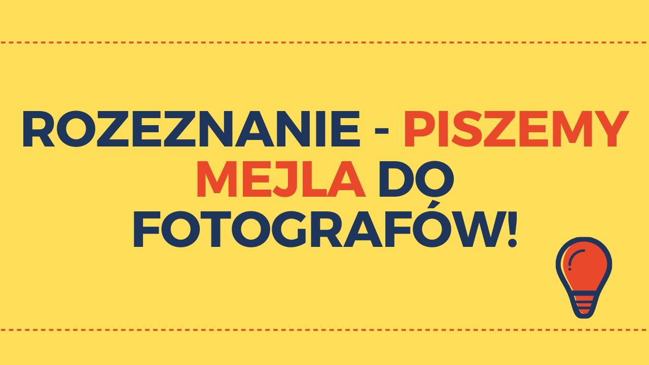 Jak napisać wiadomośćdo fotografa?